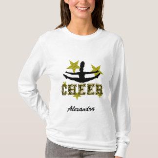Camiseta T-shirt longo personalizado cheerleader da luva