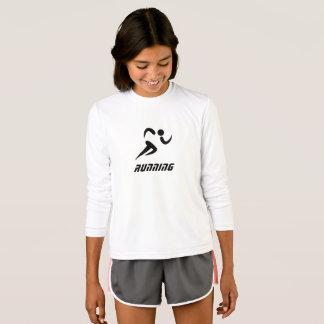 Camiseta t-shirt longo running da luva