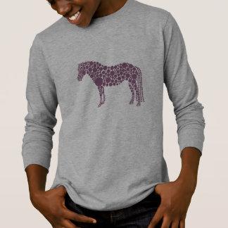 Camiseta T-shirt Longo-Sleeved do pônei dos miúdos
