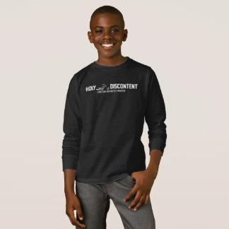 Camiseta T-shirt Longo-Sleeved dos miúdos descontentamento
