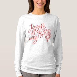 """Camiseta T-shirt longo """"tinir do Natal da luva toda a"""