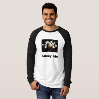 Camiseta T-shirt longo w/text do Raglan das canvas dos