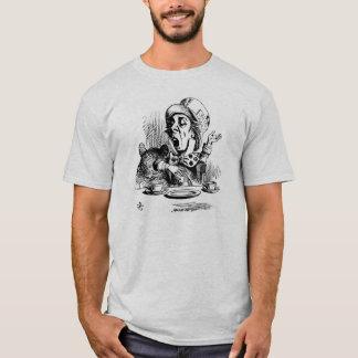 Camiseta T-shirt louco da cor da cinza do Hatter