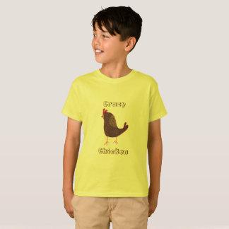 Camiseta T-shirt louco da galinha