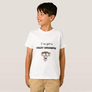 Camiseta T-shirt louco de Granpa dos miúdos