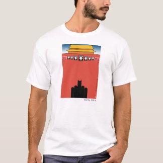 Camiseta T-shirt louco de Tiananmen do caranguejo