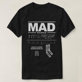 Camiseta T-shirt LOUCO do aeroporto de Adolfo Suárez