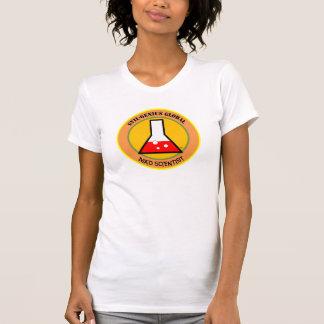 Camiseta T-shirt louco do cientista (mulheres)