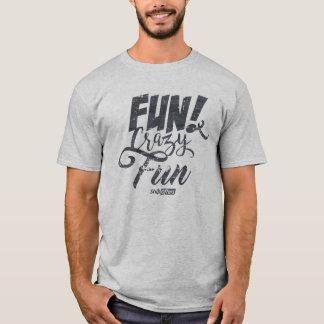 Camiseta T-shirt louco do divertimento do divertimento