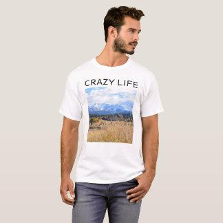 Camiseta T-shirt LOUCO dos homens da VIDA