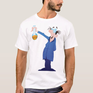 Camiseta T-shirt louco dos homens do cientista