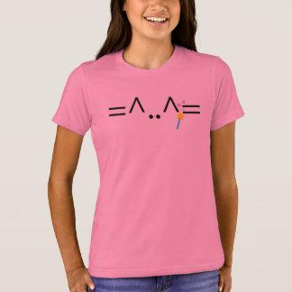 Camiseta T-shirt mágico cor-de-rosa do gato