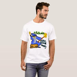 Camiseta T-shirt mágico do feiticeiro do dinheiro do