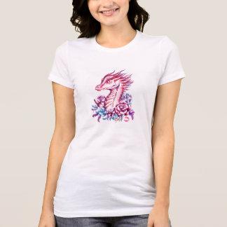 Camiseta T-shirt magro do ajustado das mulheres bonitas do