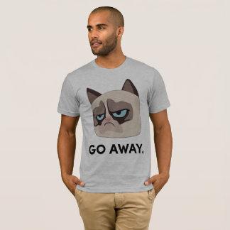 Camiseta T-shirt mal-humorado de Grumpmoji do gato - parta