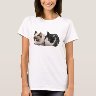 Camiseta T-shirt mal-humorado do gato e do Pokey