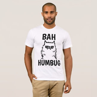 Camiseta T-shirt MAL-HUMORADOS da FARSA do CAT BAH do Natal