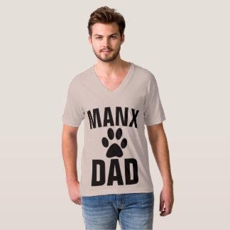 Camiseta T-shirt MANX do CAT do PAI Bobtail