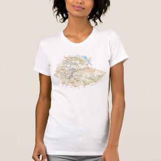 """Camiseta T-shirt """"Mapa da Etiópia """""""