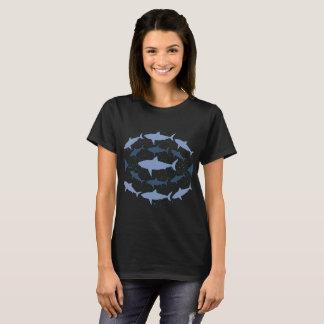 Camiseta T-shirt marinho da arte da biologia do tubarão de