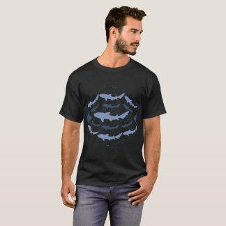 Camiseta T-shirt marinho da arte da biologia do tubarão do