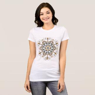 Camiseta T-shirt marroquino do floco de neve do estilo