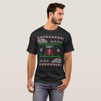 Camiseta T-shirt médico do técnico da emergência do Natal