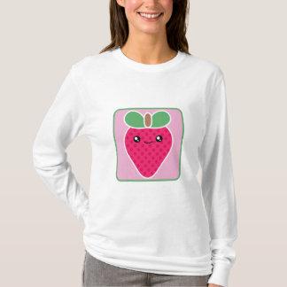 Camiseta T-shirt mega da morango de Kawaii