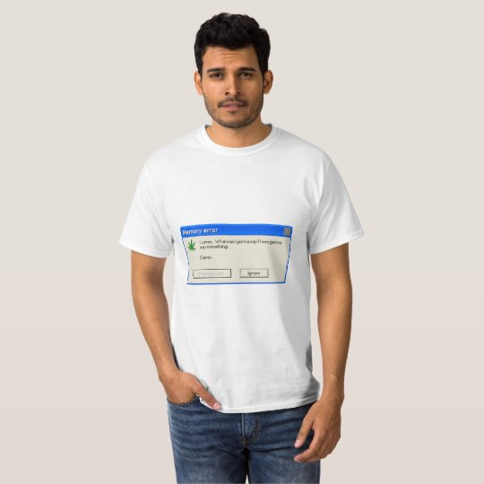Camiseta T-shirt memory error