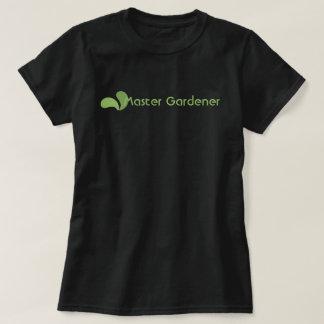 Camiseta T-shirt mestre verde do logotipo do jardineiro de
