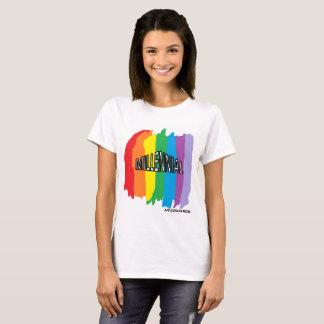 Camiseta T-shirt milenar do respingo do arco-íris