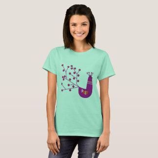 Camiseta T-shirt Minty com desenho do pavão