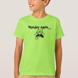 Camiseta t-shirt, miúdos, segunda-feira outra vez, grito