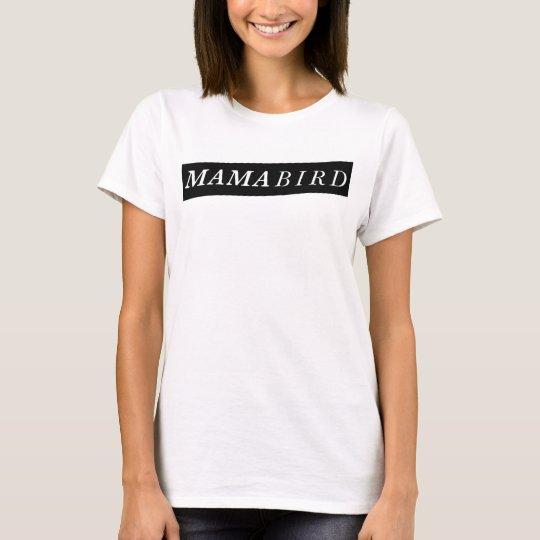 Camiseta T-shirt moderno da mamã (Mama Pássaro)