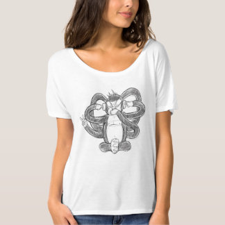 Camiseta T-shirt moderno das mulheres engraçadas do macaco