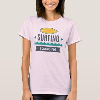 Camiseta T - shirt Mulher Branco Básico Surf