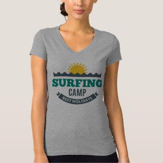 Camiseta T - shirt Mulher Branco Colo V Surf