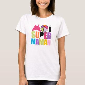 Camiseta T-Shirt Mulher - Logotipo mim Super Mamã Recortar
