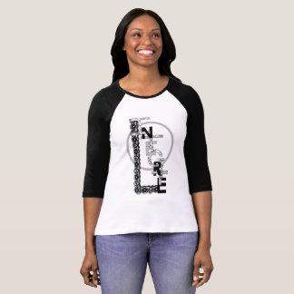 "Camiseta T-shirt mulher mangas 3/4 ""Integridade """