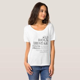 "Camiseta T-shirt mulher mangas curtas branco ""Typographie """