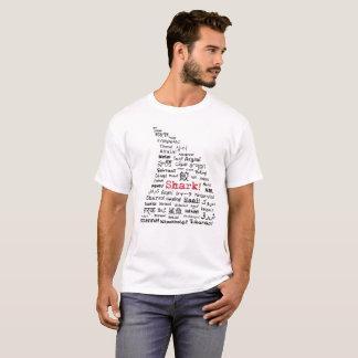 Camiseta T-shirt multilíngue da aleta do tubarão