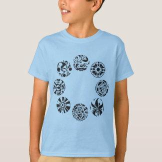 Camiseta T-shirt múltiplo dos miúdos dos símbolos das