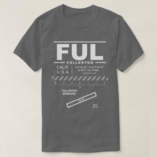 Camiseta T-shirt municipal do aeroporto FUL de Fullerton