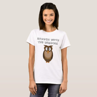 Camiseta T-shirt na moda da coruja da sabedoria