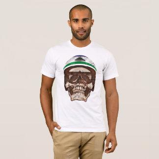 Camiseta T-shirt na moda do crânio do cavaleiro de Mosotho