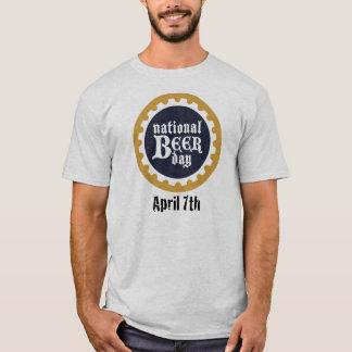 Camiseta T-shirt nacional do dia da cerveja