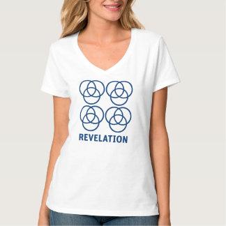 Camiseta T-shirt Nano do V-Pescoço do Hanes das mulheres da