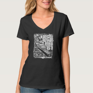 Camiseta T-shirt Nano do V-Pescoço do Hanes das mulheres de