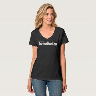 Camiseta T-shirt Nano do V-Pescoço do Hanes das mulheres do