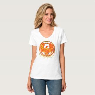 Camiseta T-shirt Nano do V-Pescoço impetuoso das senhoras